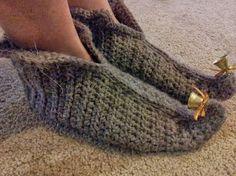 Shush's Handmade Stuff: Elf in Brown - crochet slippers pattern (FREE)