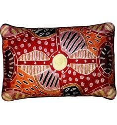 Red Oblong Cushion Cover