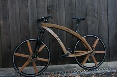Wooden bike + wheels