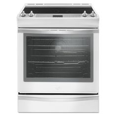 Whirlpool Smooth Surface 5-Element Self-Cleaning Slide-In Convection Electric Range (White Ice) (Common: 30-in; Actual 29.875-in)