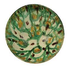 Persia - sgraffito splashware pottery bowl 10th century  #ceramics #pottery GROUPE 2 inspiré des trois couleurs Tang