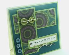 Handmade Father's Day Card masculine design by cardsmiles on Etsy