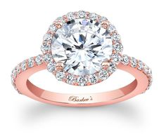 Barkev's Rose Gold Halo Engagement Ring - 7839LPW