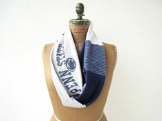 Penn State Infinity T Shirt Scarf / Eternity / Navy Blue by ohzie
