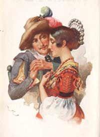 A. Manzoni I promessi sposi Biblioteca delle Signorine Salani ill. di Luigi Cavalieri (1869-1940)