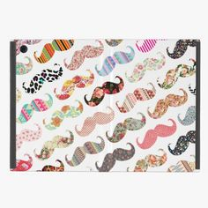 Awesome! This Funny Girly  Colorful Patterns Mustaches iPad Mini Covers is completely customizable and ready to be personalized or purchased as is. It's a perfect gift for you or your friends.