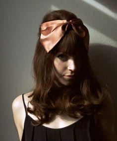 cute retro hair and bow Retro hair #vintage #rockabilly