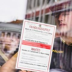 Information campaign for the murders of two prostitutes in Nuremberg, Germany