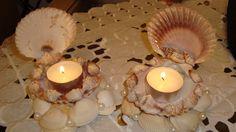 candle  seashell ideas