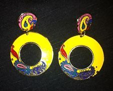 vintage funky hippie earrings -