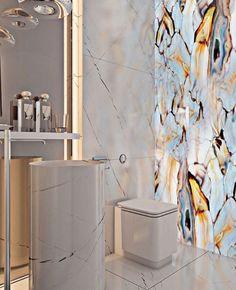 A Miami apartment in stormy, subdued tones - . - A Miami apartment in stormy, muted tones – # muted - Bathroom Wall Decor, Bathroom Interior Design, Modern Bathroom, Room Decor, Bathroom Ideas, Bathroom Small, Bath Decor, Glass Bathroom, Shower Ideas