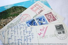 VINTAGE Stamps & Postcards  Asia Collection by ForsythTreasures
