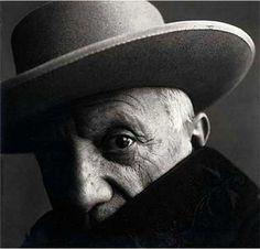 Irving Penn, Portrait of Pablo Picasso - 1957 on ArtStack #irving-penn #art