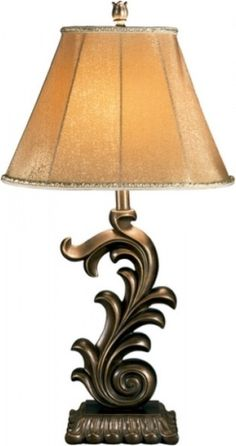 The Eliza lamp also has the scroll, but is a daintier look which would be nice on a smaller accent chest or sofa table.