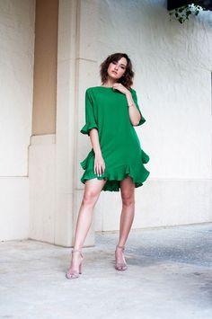Frills & Flounce Green Dress // Kahlea Nicole