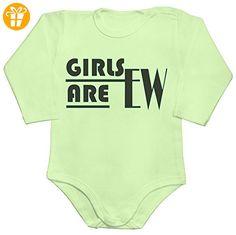 Girls Are Ewww Baby Romper Long Sleeve Bodysuit Extra Large - Baby bodys baby einteiler baby stampler (*Partner-Link)