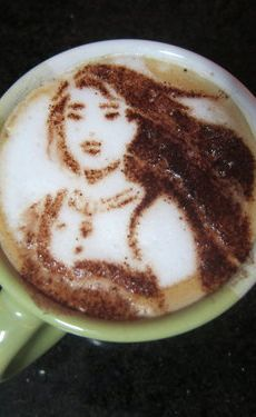 Pocahontas Latte Art
