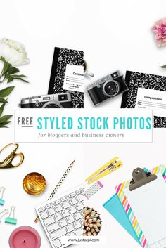 Free feminine stock photos for bloggers and business owners / Flat lay photos / styled stock photography | JustArpi