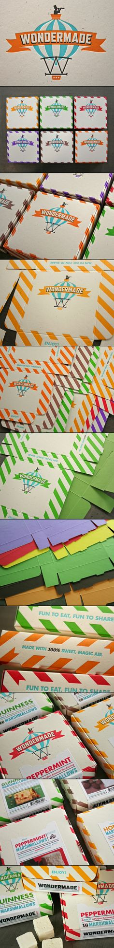 Another oldie but goodie beautiful letterpress #packaging #design for Wondermade Marshmallows by Studio on Fire PD