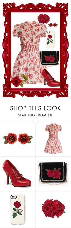"""""""flowers"""" by sassykat79 ❤ liked on Polyvore featuring Dolce&Gabbana, Miu Miu, Pinup Couture and Casetify"""
