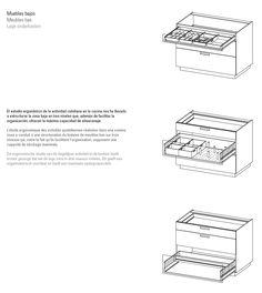 Cocinas SANTOS - Muebles bajos 3 niveles