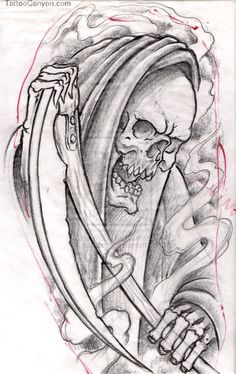 Grim Reaper 2 Tattoos picture 13446