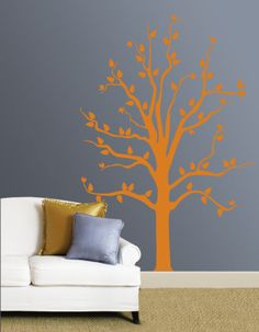 I like this contrast of color and such a simple tree design
