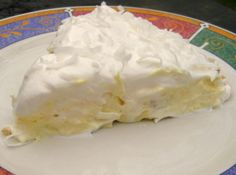 Hawaiian Pie - Kinda tastes like a pina colada in the form of a pie.  Really easy and good!