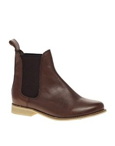 Enlarge ASOS ALIBI Leather Chelsea Ankle Boots