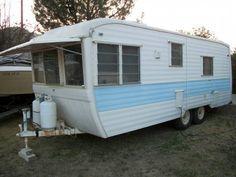 1967 Kencraft with Bathroom 21 foot Vintage Travel Trailer $3200