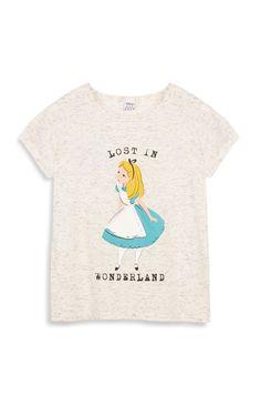 "Primark - Graues �Alice im Wunderland"" T-Shirt"