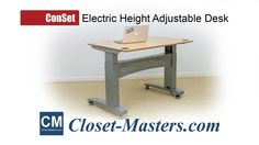 Conset Electric Height Adjustable Desk and Table. In addition to preventing injury by adjusting the desktop height to your optimal seating position, our motorized desk bases are ideal for hot-desking applications where multiple individuals can occupy the same computer workstation at different times throughout the day.