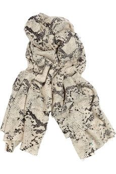 Malene Birger python scarf.  Because its snake.  Because its cool!!!