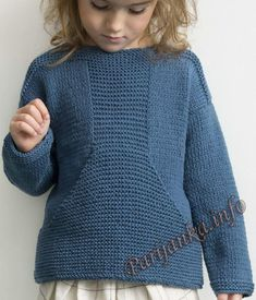 Пуловер с карманом кенгуру (д) 24*131 Phildar №4681