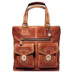 Cute & simple brown Coach bag   I NEED THIS ONE...
