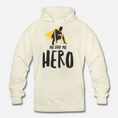 Vater Unisex Hoodie My Dad My Hero, Daddy, Unisex, Hoodies, Sweatshirts, Bear, Sweaters, Fashion, Father And Son