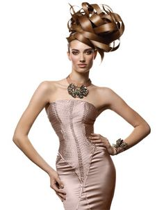 Interwoven Ribbons  Category: HAIRDO    Style/Estilo: Aquage    Hair/Pelo: Ann Bray    Makeup/Maquillaje: Wanda Alvarez    Photo/Foto: Luis Alvarez    Fashion Stylist: Patric Chauvez