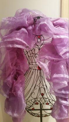 Shades of Purple: Purple Organza Boa by RoseVonSweet on Etsy