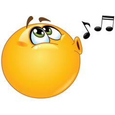 singing smiley sticker