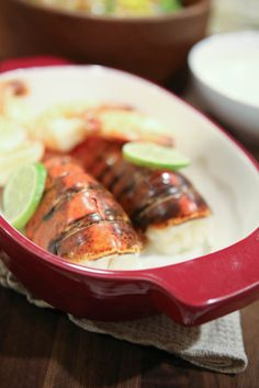 Lobster Tails with Key Lime Butter Sauce