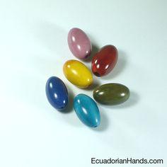Egg 19x15mm Tagua Bugle Bead (8unit) PREMIUM $8.49
