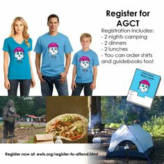 Register for AGCT. Includes 2 nights camping + 2 dinners + 2 lunches. You can order shirts and guidebooks too! Register now at: ewls.org/register-to-attend.html