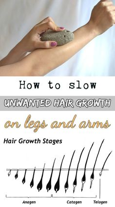 How to slow unwanted hair growth on legs and arms