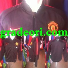 Jersey Bola MU: Jaket Bola Grade Ori Manchester United Black