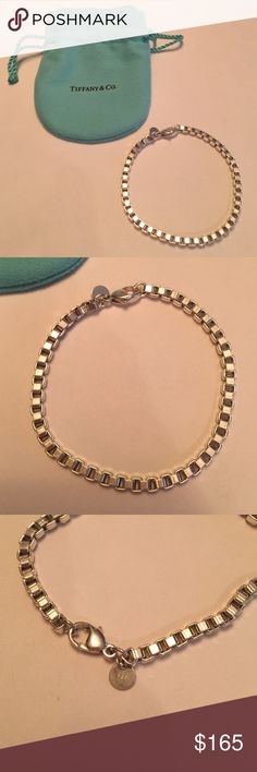 Tiffany bracelet Tiffany silver Venetian link bracelet. Hardly worn. Recently cleaned at Tiffany's. Excellent condition!  All photos are of the actual bracelet. Includes dustbag. Tiffany & Co. Jewelry Bracelets