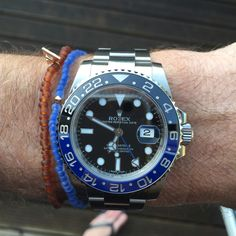 Rolex GMT 2 blue/black with Luis Morais glass beads ...