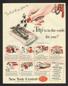 ... York Central Railroad Fortune Teller A Trip Is In The Cards Print Ad