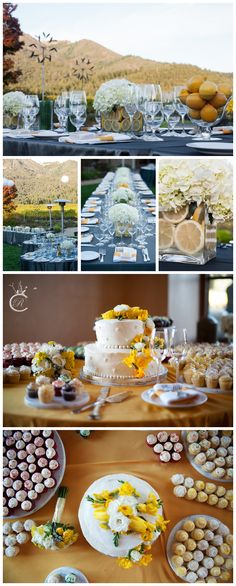 Grey & yellow wedding details, Beautiful wedding at St. Francis Winery in Santa Rosa, Wedding details, Lemons Carrie Richards Photography