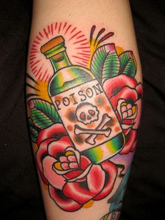 Cool old school poison bottle