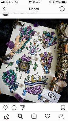 29 ideas art tattoo ideas draw illustrations for 2019 Tattoo Drawings, Body Art Tattoos, Cool Tattoos, Piercing Tattoo, I Tattoo, New Age Tattoo, Halloween Tattoo, Witch Tattoo, Tattoo Zeichnungen